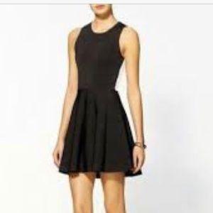 Parker black mini dress with back cut out size XS